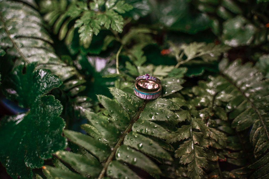 Wedding rings at Ritz Carlton Lake Tahoe