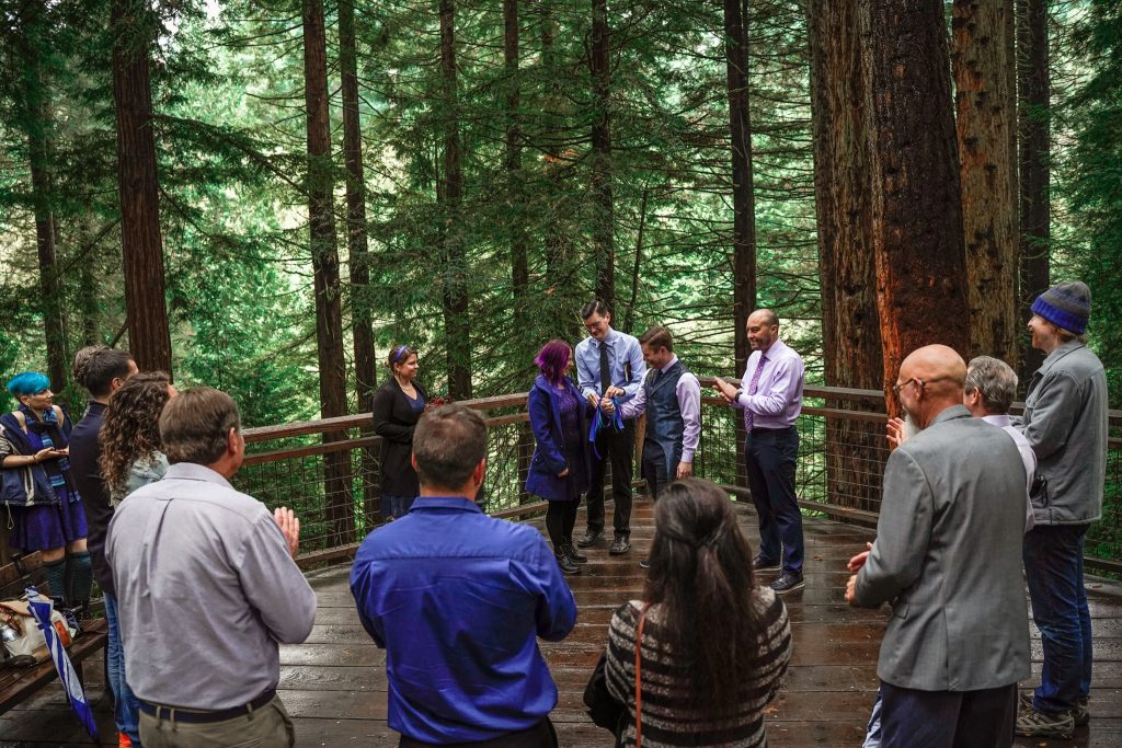 tahoe wedding photographer redwood forest