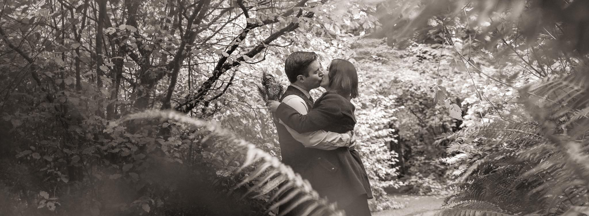 Two lovers kissing - contact a Lake Tahoe photographer