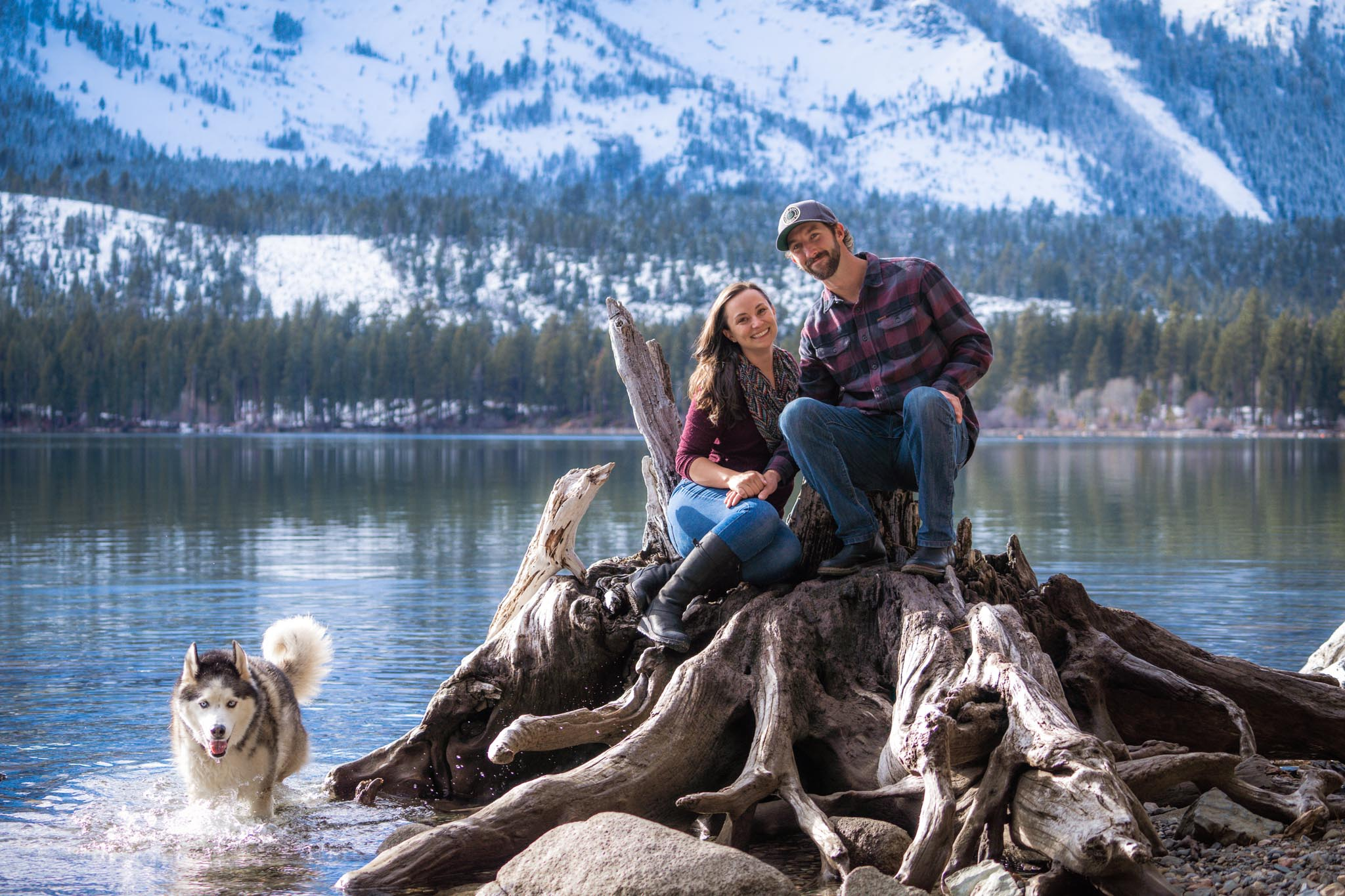 Lake Tahoe engagement photography session at Fallen Leaf Lake