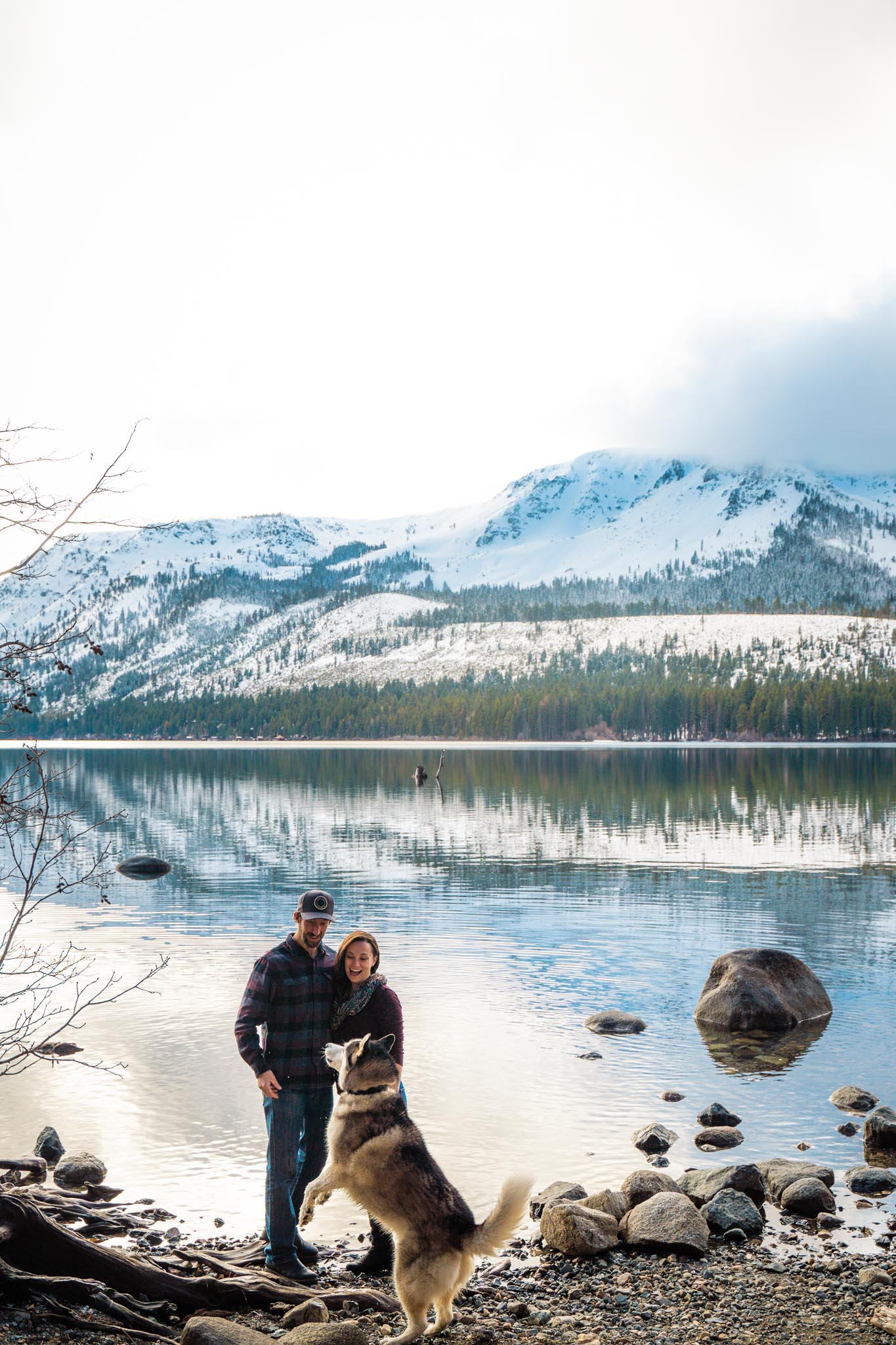 Sara and Branden's Lake Tahoe engagement photography session at Fallen Leaf Lake