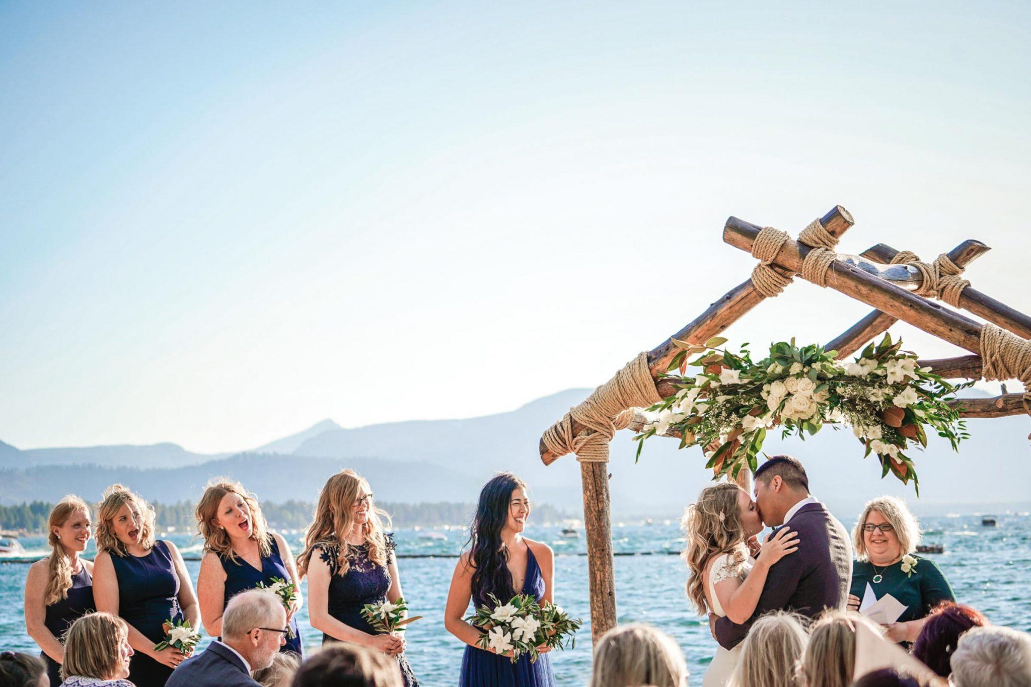 Lake Tahoe wedding photography at Lakeside Beach