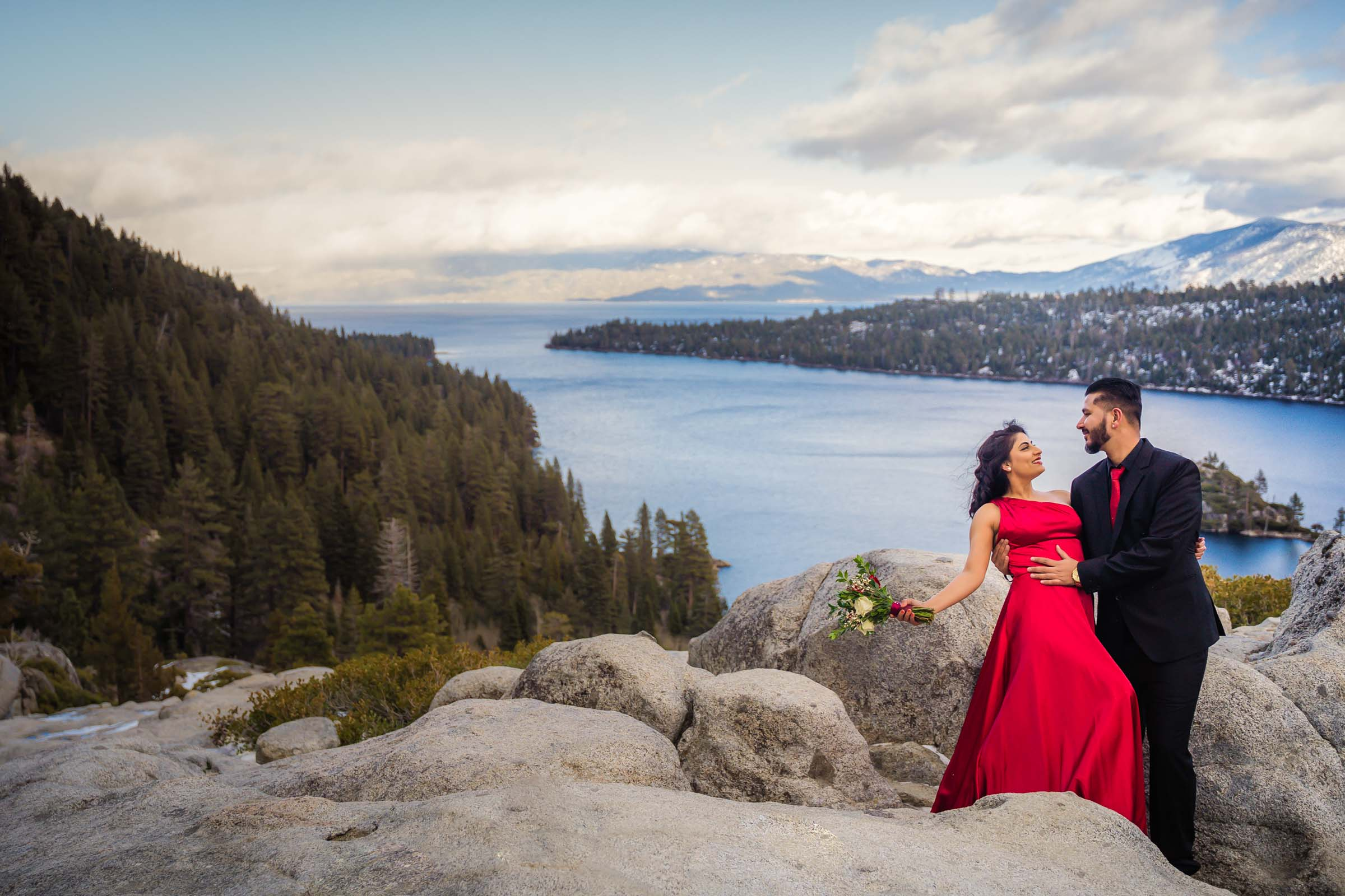 Lake Tahoe Elopement Packages wedding photography at Emerald Bay, South Lake Tahoe California