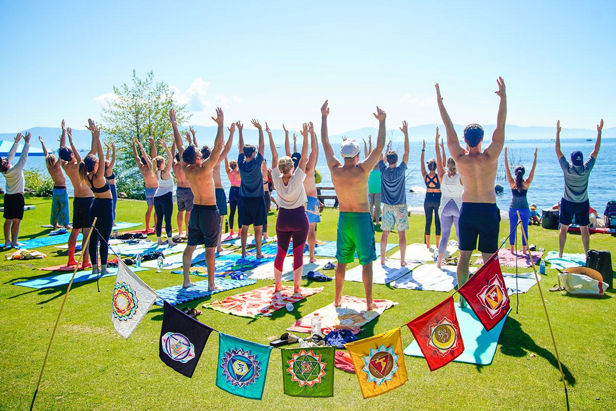 Lake Tahoe Yoga group photographer Starscape Studios