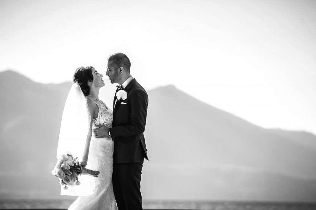Intimate wedding ceremony in South Lake Tahoe, California