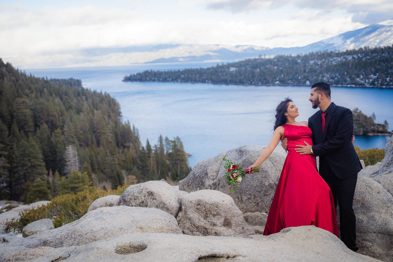 Emerald Bay Tahoe elopement photography