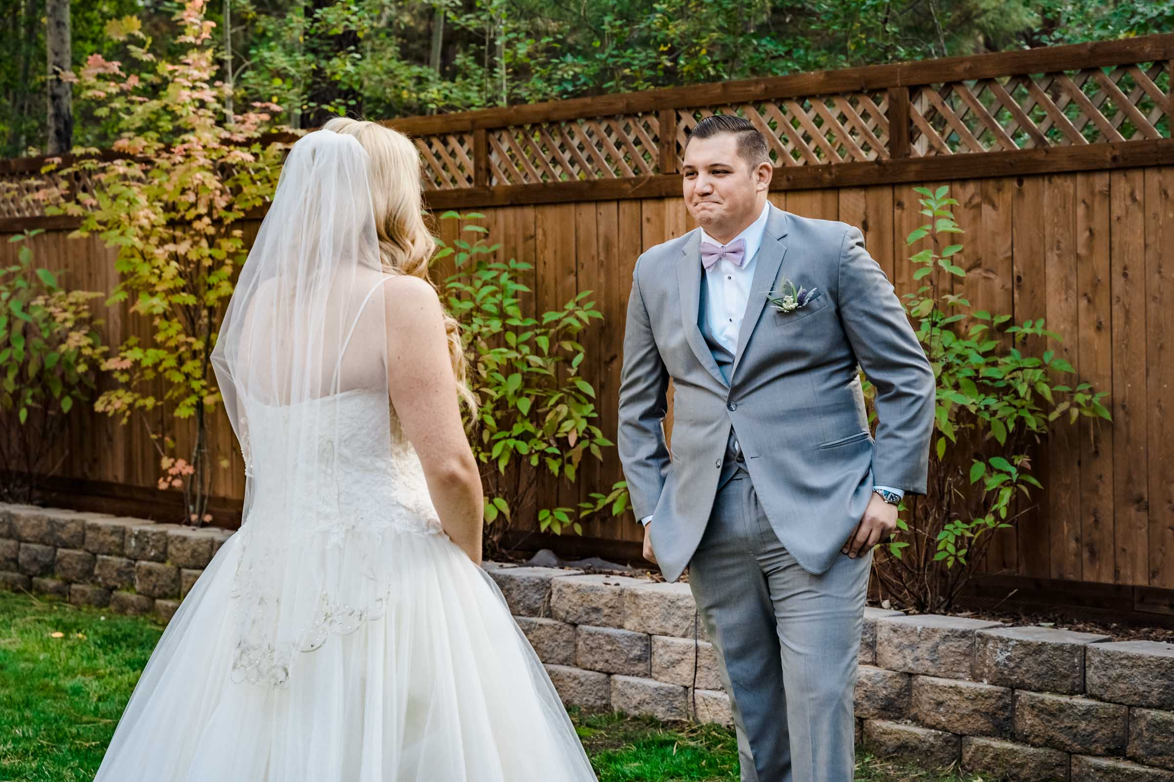 First Look with the bride and groom