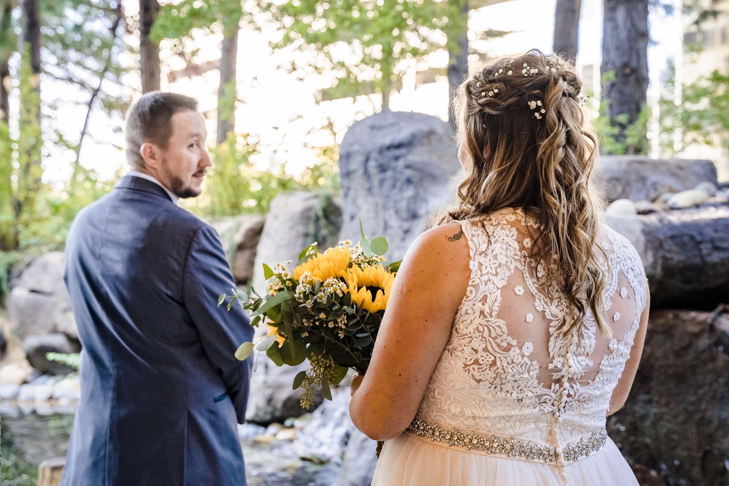 First Look for wedding at Harrahs Harveys South Lake Tahoe